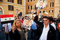 Manifestazione in favore del regime siriano