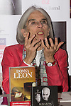 27.09.2012. The American writer Donna Leon and the Italian singer Cecilia Bartoli presented the book 'The jewels of paradise' of Donna Leon and the album 'Mission' of Cecilia Bartoli in the Hotel AC Retiro in Madrid, Spain. In the image Donna Leon (Alterphotos/Marta Gonzalez)