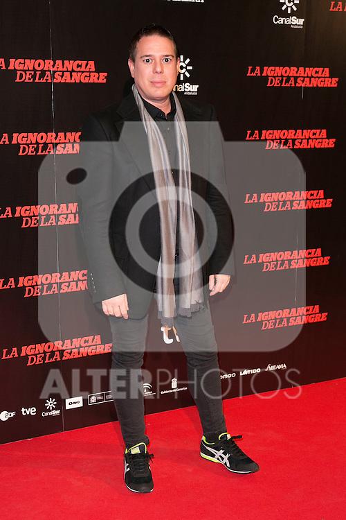 """Hannibal Laguna attends """"La Ignorancia de la Sangre"""" Premiere at Capitol Cinema in Madrid, Spain. November 13, 2014. (ALTERPHOTOS/Carlos Dafonte)"""