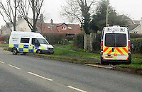 "COPY BY TOM BEDFORD<br /> Pictured: A speed camera van arrives (R) to assist a colleague whose van that got stuck on a grass verge in the village of Laleston, Bridgend, Wales, UK.<br /> Re: A speed camera van that got itself firmly wedged on top of a roadside verge had to be towed free by police – much to the amusement of a passing motorist.<br /> The comical scene was captured on camera by a driver from Bridgend.<br /> He was passing through the village of Laleston, Bridgend when he saw the Ford Transit, in the livery of the GoSafe partnership, in a bit of a pickle.<br /> ""I think they must have tried to get onto the old concrete slab which I think was an old bus stop,"" said the man, who did not wish to be named.<br /> ""But I think he tried to go over the high curb and got stuck."""