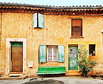 House in Roussillon, Provence, France.