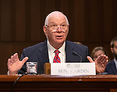United States Senator Ben Cardin (Democrat of Maryland) introduces Dr. Christopher Scolese, Director, NASA Goddard Space Flight Center, who will testify before the US Senate Select Committee on Intelligence on his nomination to be the Director of the National Reconnaissance Office (NRO), on Capitol Hill on May 1, 2019<br /> Credit: Ron Sachs / CNP