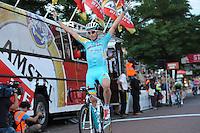 WIELRENNEN: SURHUISTERVEEN: 05-08-2014, Profronde Surhuisterveen, winnaar Lieuwe Westra (Astana), ©foto Martin de Jong