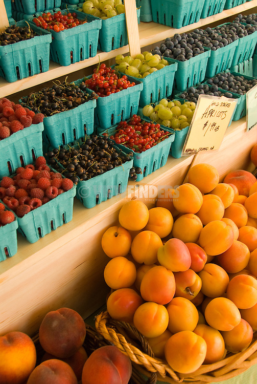 Cartons of fruit at a market