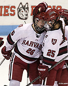 Haley Mullins (Harvard - 26), Sydney Daniels (Harvard - 25) - The Harvard University Crimson tied the Boston University Terriers 6-6 on Monday, February 7, 2017, in the Beanpot consolation game at Matthews Arena in Boston, Massachusetts.
