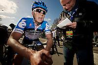 De Ronde van Vlaanderen 2012..Sep Vanmarcke interviewed