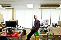 Sebastian Thrun pictures: executive portrait photography of Sebastian Thrun of Udacity, by San Francisco corporate photographer Eric Millette