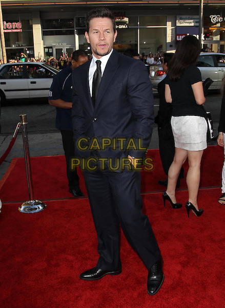 Mark Wahlberg.The L.A. Premiere of 'Ted' held at The Grauman's Chinese Theatre in Hollywood, California, USA..June 21st, 2012.full length blue suit black hands in pockets .CAP/ADM/KB.©Kevan Brooks/AdMedia/Capital Pictures.