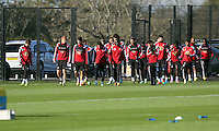 Pictured: Players arriving Wednesday 05 November 2014<br />