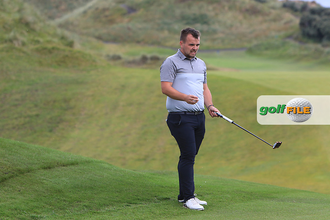 Ryan McCullough during Round 2 of the North of Ireland Amateur Open Championship 2019 at Portstewart Golf Club, Portstewart, Co. Antrim on Tuesday 9th July 2019.<br /> Picture:  Thos Caffrey / Golffile<br /> <br /> All photos usage must carry mandatory copyright credit (© Golffile | Thos Caffrey)