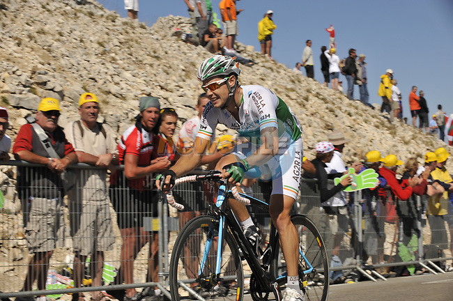 Irish National Champion Nicolas Roche (IRL) AG2R La Mondiale close to the finish of Mont Ventoux during Stage19 of the Tour de France 2009 running 167km from Montelimar to Mont Ventoux, France. 25th July 2009 (Photo by Eoin Clarke/NEWSFILE)