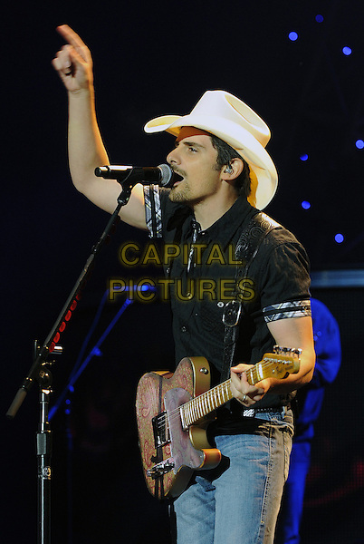 17 May 2014 - Burgettstown, PA - Country music star BRAD PAISLEY performs at the 2nd stop of his &quot;Country Nation World Tour&quot; held at the First Niagara Pavilion.  <br /> CAP/ADM/JN<br /> &copy;Jason L Nelson/AdMedia/Capital Pictures