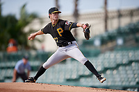 Pittsburgh Pirates pitcher Steven Jennings (27) delivers a pitch during a Florida Instructional League game against the Baltimore Orioles on September 22, 2018 at Ed Smith Stadium in Sarasota, Florida.  (Mike Janes/Four Seam Images)