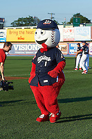 Reading Fightin Phils mascot Screwball before a game against the New Britain Rock Cats on August 7, 2015 at FirstEnergy Stadium in Reading, Pennsylvania.  Reading defeated New Britain 4-3 in ten innings.  (Mike Janes/Four Seam Images)
