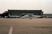 Juli 1994. Luchthaven van Deurne. Vliegtuig Cityflyer.
