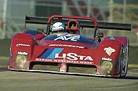 The #27 Ferarri 333SP of Didier Theys, Fedy Leinhard, Ross Bentley, and Mauro Baldi races to a 71st place finish in the Rolex 24 at Daytona, Daytona International Speedway, Daytona Beach, FL, February 2000.  (Photo by Brian Cleary/www.bcpix.com)