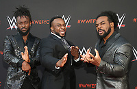 NORTH HOLLYWOOD, CA - JUNE 6: Kofi Kingston, Big E, Xavier Woods,  WWE's First-Ever Emmy &quot;For Your Consideration&quot; Event at The Saban Media Center in North Hollywood, California on June 6, 2018. <br /> CAP/MPIFS<br /> &copy;MPIFS/Capital Pictures