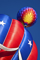 Hot air balloons in the air at Memorial Park in Colorado Springs, Colorado..Sent to Canon 2/2009 to Canon for Print Masters images
