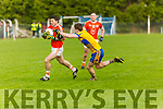 Brosna V St. Senan's: Brosna's Patrick Moriarty wins the ball ahead of St.Senan's Bill Keane  in the Bernard O'Callaghan North Kerry Senior Championship Final sponsored by McMunn's Bar & Restaurant, Ballybunion in O'Rahilly Park, Ballylongford on Sunday last.