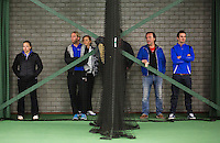 Rotterdam, The Netherlands, 15.03.2014. NOJK 14 and 18 years ,National Indoor Juniors Championships of 2014, so coaches on the sideline<br /> Photo:Tennisimages/Henk Koster