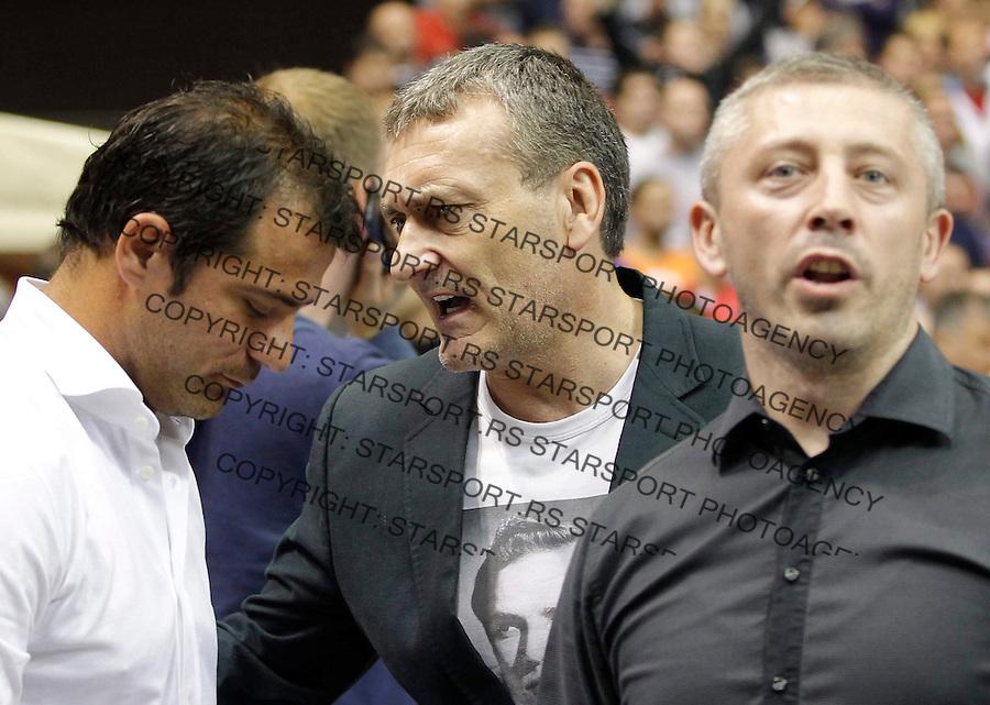 Kosarka, play off final match four 4<br /> Agroziv Superliga season 2012-2013<br /> Partizan Crvena Zvezda<br /> Dejan Stankovic Zoran Stojadinovic and Slavisa Kokeza<br /> Belgrade, 06.12.2013.<br /> foto: Srdjan Stevanovic/Starsportphoto &copy;