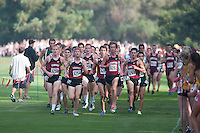 STANFORD, CA -- September 29, 2012: Cross country team during the 39th running of the Stanford Invitational Saturday Morning at Stanford.
