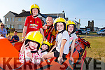 Sarah Leen, Isabelle Daly, Sophie Mara, Brooke and Jamie Daly with Stephen O'Connor in the Ballyheigue Sea Rescue boat at the Summer Festival in the village on Monday..