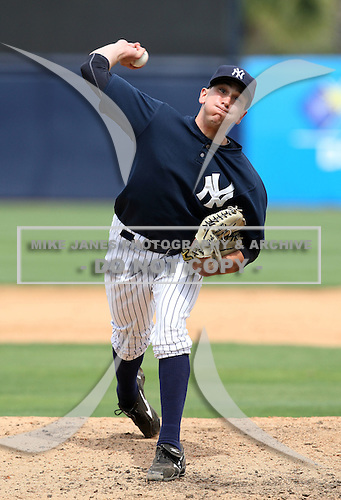 April 3, 2010:  Switch Pitcher (ambidextrous) Pat Venditte (21) of the New York Yankees playing in the annual Futures Game during Spring Training at Legends Field in Tampa, Florida.  Photo By Mike Janes/Four Seam Images
