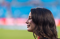 CHARLOTTE, NC - OCTOBER 3: Kate Markgraf of the United States stands on the field during a game between Korea Republic and USWNT at Bank of America Stadium on October 3, 2019 in Charlotte, North Carolina.
