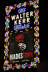 Theatre Marquee for Broadway Opening Night Performance of 'Hadestown' at the Walter Kerr Theatre on April 17, 2019 in New York City.