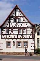 Fachwerkhaus in Rüdenau im Odenwald, Bayern, Deutschland
