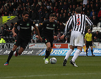 Gary Hooper on the ball in the St Mirren v Celtic Clydesdale Bank Scottish Premier League match played at St Mirren Park, Paisley on 20.10.12.