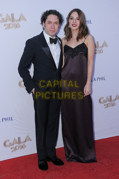 27 September 2016 - Los Angeles, California. Gustavo Dudamel, Maria Valverde. Los Angeles Philharmonic 2016/17 Opening Night Gala: Gershwin And The Jazz Age held at The Walt Disney Concert Hall. <br /> CAP/ADM/BT<br /> &copy;BT/ADM/Capital Pictures