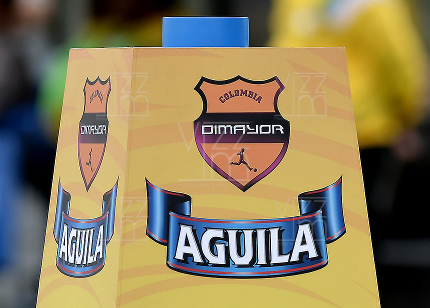 BOGOTÁ -COLOMBIA, 14-01-2015. Logo Dimayor Aguila. Photo: VizzorImage/ Gabriel Aponte / Staff