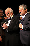 Hal Prince & Cameron Mackintosh during the 'Phantom of the Opera' - 25 Years on Broadway Gala Performance Curtain Call Celebration at the Majestic Theatre in New York City on 1/26/2013
