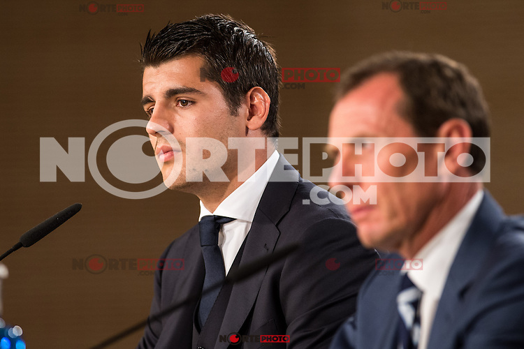 Real Madrid's Alvaro Morata during the presentation of the player at the Santiago Bernabeu Stadium. August 15, 2016. (ALTERPHOTOS/Rodrigo Jimenez) /NORTEPHOTO
