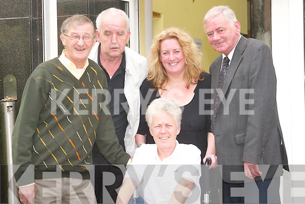 5362- 5369. .DISABILITY: Attending the Kerry Network Disability AGM at The Brandon Hotel, Tralee, on Thursday, l-r: Billy Power (Ballyferriter), Peter Breen, Jillian Rowe (front), Margaret O'Shea and Noel O'Neill, Tralee (Chairman)..
