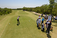 Joaquin Niemann (CHL) watches his tee shot on 1 during Round 1 of the Valero Texas Open, AT&amp;T Oaks Course, TPC San Antonio, San Antonio, Texas, USA. 4/19/2018.<br /> Picture: Golffile | Ken Murray<br /> <br /> <br /> All photo usage must carry mandatory copyright credit (&copy; Golffile | Ken Murray)