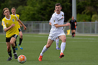 Team Wellington&rsquo;s Cameron Wardlaw in action during the National Youth League - Phoenix Youth v Team Wellington Youth at Petone Memorial Park, Lower Hutt, New Zealand on Saturday 29 October 2016.<br /> Photo by Masanori Udagawa. <br /> www.photowellington.photoshelter.com.