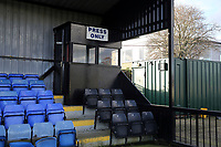 General view of the press box in the main stand during Walthamstow vs Hashtag United, Essex Senior League Football at Wadham Lodge Sports Ground on 30th November 2019