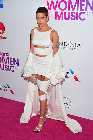 NEW YORK, NY - DECEMBER 9 : Halsey at the 11th Annual Billboard's Women In Music Luncheon at Madison Square Garden in New York City on December 9, 2016. Credit: John Palmer/MediaPunch