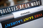 Books on fashion lie on the table of Francoise Morechand's home in Tokyo, Japan on Dec. 8 2010.
