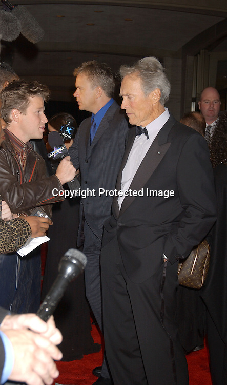 "..Clint Eastwood..arriving at the opening of the 41st New York Film Festival ..screening of "" Mystic River"" on October 3, 2003 in New York City. Photo By Robin Platzer, Twin Images"