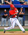 4 March 2011: Washington Nationals infielder Jerry Hairston Jr. in action during a Spring Training game against the Atlanta Braves at Space Coast Stadium in Viera, Florida. The Braves defeated the Nationals 6-4 in Grapefruit League action. Mandatory Credit: Ed Wolfstein Photo