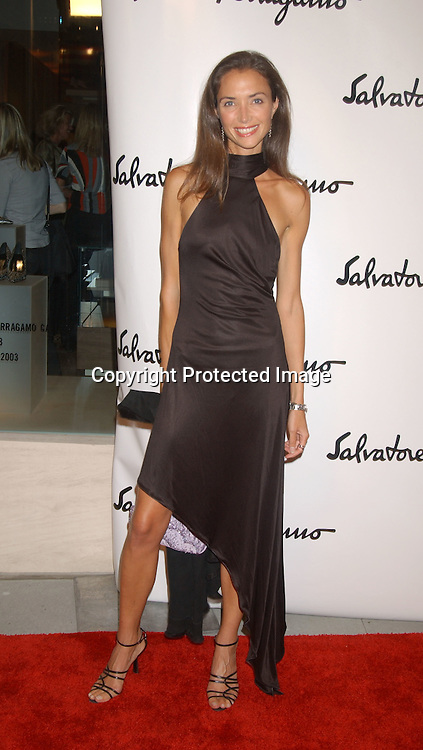 Olivia Chantecaille                               ..at the Salvatore Ferragamo NYC Flagship Store opening on ..September 12, 2003 . The Event benefitted Free Arts NYC.  Photo by Robin Platzer, Twin Images.