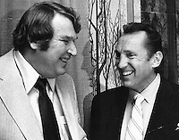 Raiders Al Davis with his coach John Madden 1969.photo/Ron Riesterer