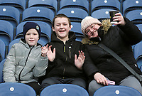 Blackburn Rovers fans take their seats early ahead of kick-off at at Ewood Park<br /> <br /> Photographer Rich Linley/CameraSport<br /> <br /> The EFL Sky Bet Championship - Blackburn Rovers v Preston North End - Saturday 9th March 2019 - Ewood Park - Blackburn<br /> <br /> World Copyright © 2019 CameraSport. All rights reserved. 43 Linden Ave. Countesthorpe. Leicester. England. LE8 5PG - Tel: +44 (0) 116 277 4147 - admin@camerasport.com - www.camerasport.com