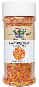 10463 Nature's Colors natural Harvest Mix Decorating Sugar, Tall Jar 7.5 oz, India Tree Storefront