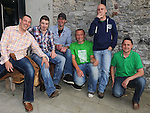 Malcom Burke, Ged Maguire, Cian Bourke, Woody, Colin McHale and Gary Kelly cheering on Ireland at Wm Kearns. Photo: Colin Bell/pressphotos.ie