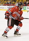 Ryan Ginand (NU - 3) - The Northeastern University Huskies defeated the Harvard University Crimson 3-1 in the Beanpot consolation game on Monday, February 12, 2007, at TD Banknorth Garden in Boston, Massachusetts.